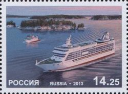 Russia. Рassenger ferries. Joint issue of the Russian Federation and Åland island. stamp