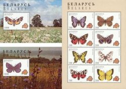 Belorussia (Belarus). Butterfies, 1996, set of sheetlet and 2 block's, fantastic price!
