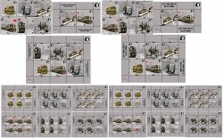 Russia and Finland. Peterspost. Lost tram lines of Baltic towns, super full set of 12 stamps, 4 block's and 12 sheetlets