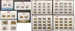 Tajikistan. 2020. Predators from the Red Book of Tajikistan, full set of imperforated stamps, block's and sheetlets