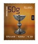Iceland. 2012. Traditional Icelandic craft. Silverware. The cup. Self-adhesive stamp